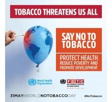 World No Tobacco Day, 31 May 2017